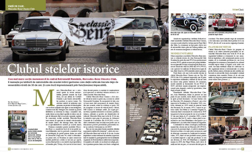 Motor Clasic Magazin - Nr. 3 - Noiembrie - Decembrie 2015