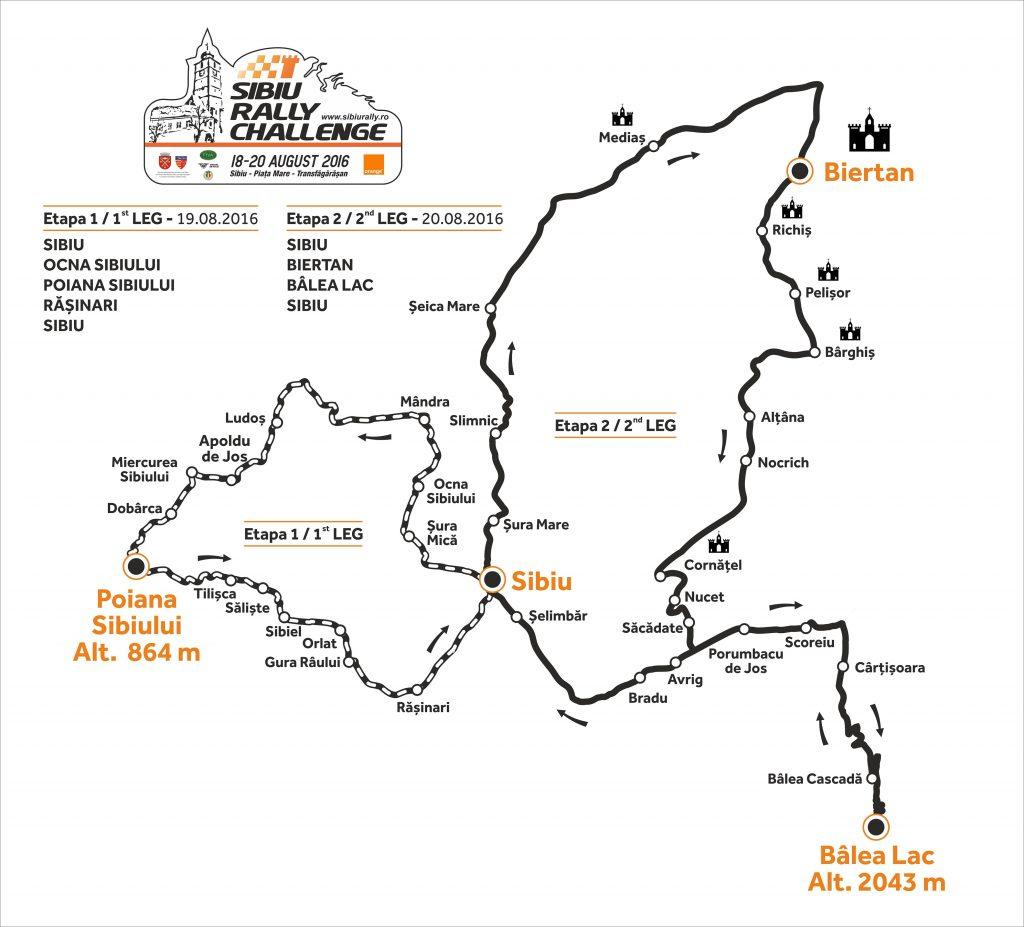 Harta generala Sibiu Rally Challenge 2016