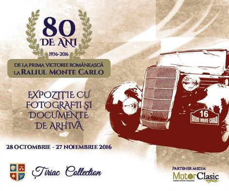 Expoziție de fotografie dedicată celor 80 de ani de la prima victorie românească în Raliul Monte Carlo
