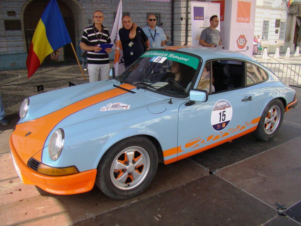 Mirela Bucovicean - Alexandra Gologan Porsche 911 la start în Sibiu Classic Challnege 2016