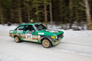 Gabriel Stanciu/ Georgios Ladopoulos, Ford Escort MK 2, Roumanie Historic Winter Rally 2017