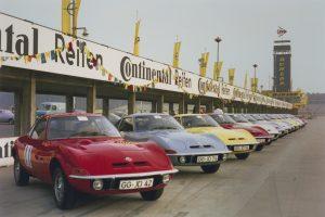Automobile de vis: premiera mondială Opel GT pentru jurnaliști s-a ținut pe Hockenheimring în 1968.
