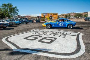 USA-Tour anlässlich des 50. Opel-GT-Geburtstages, Mai 2018. Conrero GT in Kingman, Arizona.
