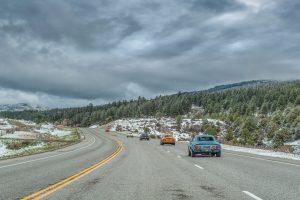 USA-Tour anlässlich des 50. Opel-GT-Geburtstages, Mai 2018. GT-Parade in den Bergen von Colorado