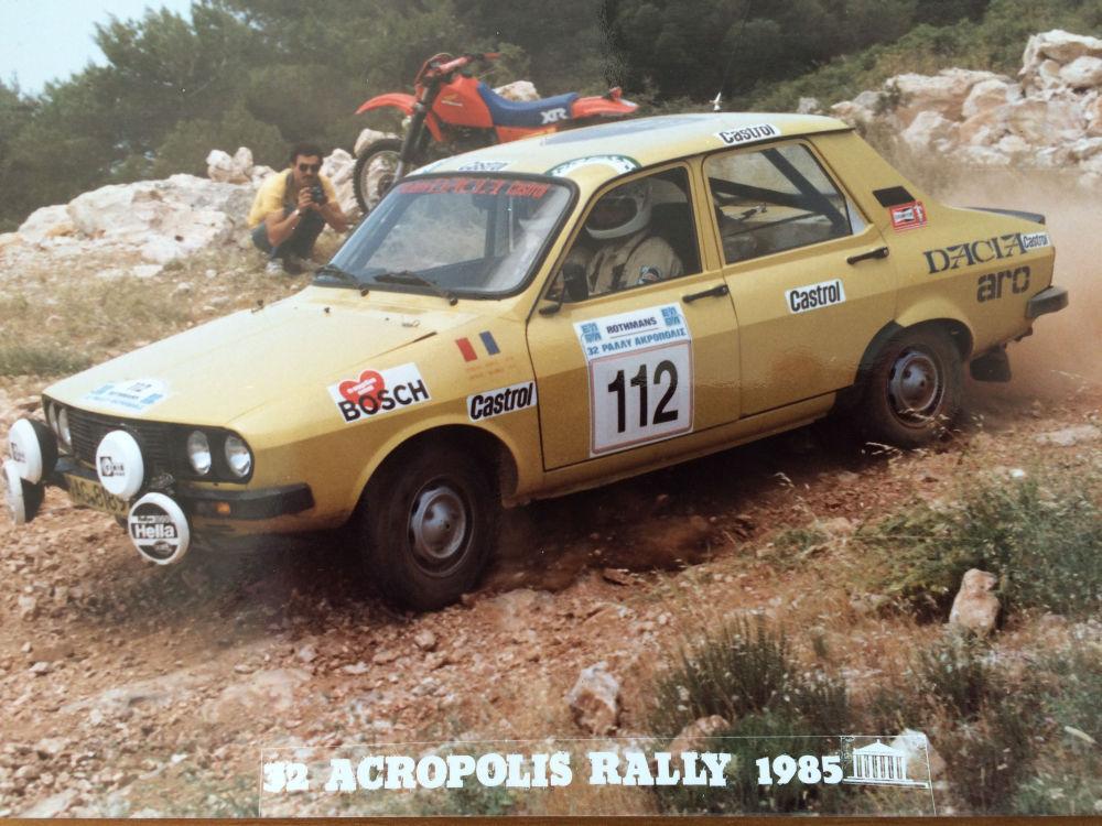 Start pe Acropole...după 30 de ani cu Dacia
