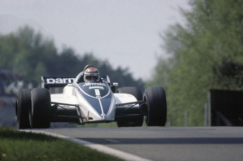 Nelson Piquet- l avolanul monopostului Brabham BT52-BMW 1983