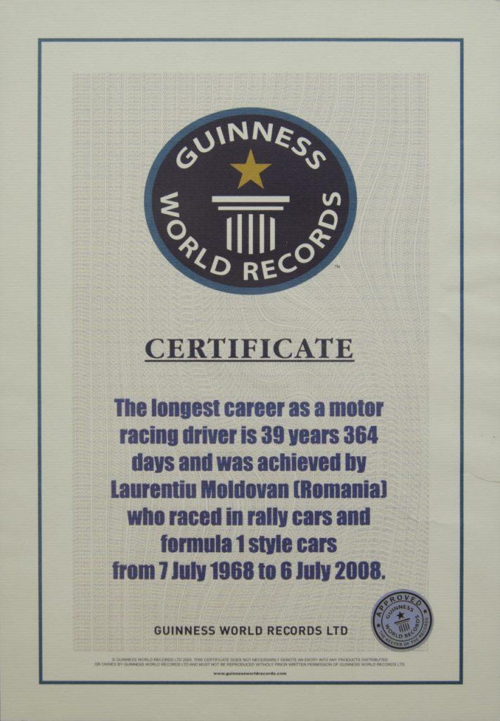 Laurențiu Moldovan în Cartea Recordurilor